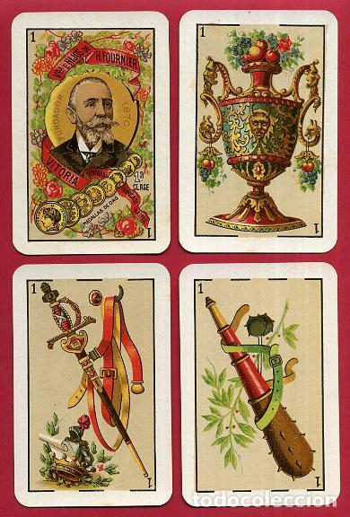 Barajas de cartas: BARAJA VDA. E HIJOS H. FOURNIER , 1ª CLASE , 40 NAIPES , LEER DESCRIPCION , ORIGINAL, B - Foto 3 - 73807019