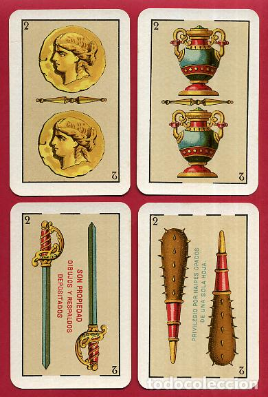 Barajas de cartas: BARAJA VDA. E HIJOS H. FOURNIER , 1ª CLASE , 40 NAIPES , LEER DESCRIPCION , ORIGINAL, B - Foto 4 - 73807019