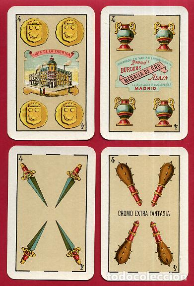 Barajas de cartas: BARAJA VDA. E HIJOS H. FOURNIER , 1ª CLASE , 40 NAIPES , LEER DESCRIPCION , ORIGINAL, B - Foto 6 - 73807019