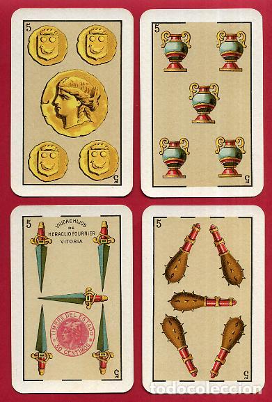 Barajas de cartas: BARAJA VDA. E HIJOS H. FOURNIER , 1ª CLASE , 40 NAIPES , LEER DESCRIPCION , ORIGINAL, B - Foto 7 - 73807019