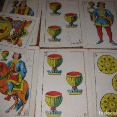 Barajas de cartas: 17 NAIPES , CARTA NAIPE BARAJA GRAN TAMAÑO PUBLICIDAD LABORATORIOS FARMACEUTICOS AÑO 1965. Lote 73826087
