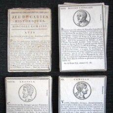 Barajas de cartas: AÑO 1805. ANTIGUO JUEGO DE CARTAS HISTORIA ROMANA. JEU DE CARTES HISTORIQUES, HISTOIRE ROMAINE. . Lote 73905563