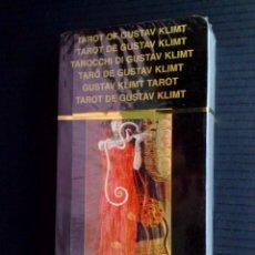 Barajas de cartas: TAROT DE 78 CARTAS DE GUSTAV KLIMT EN SU ESTUCHE ORIGINAL,CARTAS CON PRECINTO (DESCRIPCIÓN). Lote 155958864