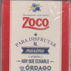 Barajas de cartas: BARAJA PUBLICIDAD PACHARÁN ZOCO. NAIPE-PRECINTADA. Lote 74215403