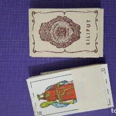 Barajas de cartas: BARAJA LILIPUT.LA HISPANO AMERICANA.JUAN ROURA CAJA ORIGINAL ORIGINAL.3X4,5 CMS. Lote 89218298