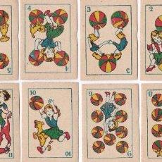Barajas de cartas - PEQUEÑA BARAJA CARTAS NAIPES NIÑOS JUGANDO. ANTIGUA. 48 CARTAS. - 74362079