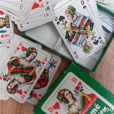 Barajas de cartas: BARAJA DE CARTAS ROMMÉ CANASTA BRIDGE (ALEMANIA) 111 CARTAS EXCELENTE ESTADO. Lote 74398595