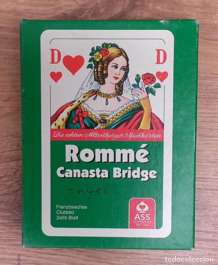 Barajas de cartas: Baraja de cartas ROMMÉ Canasta Bridge (Alemania) 111 cartas Excelente estado - Foto 2 - 74398595