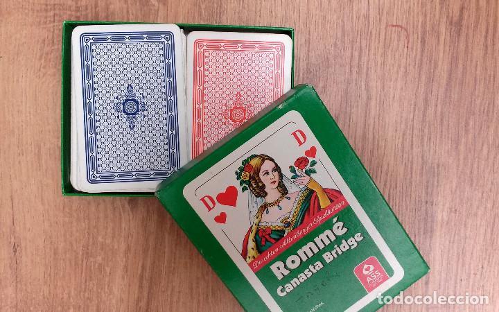 Barajas de cartas: Baraja de cartas ROMMÉ Canasta Bridge (Alemania) 111 cartas Excelente estado - Foto 3 - 74398595