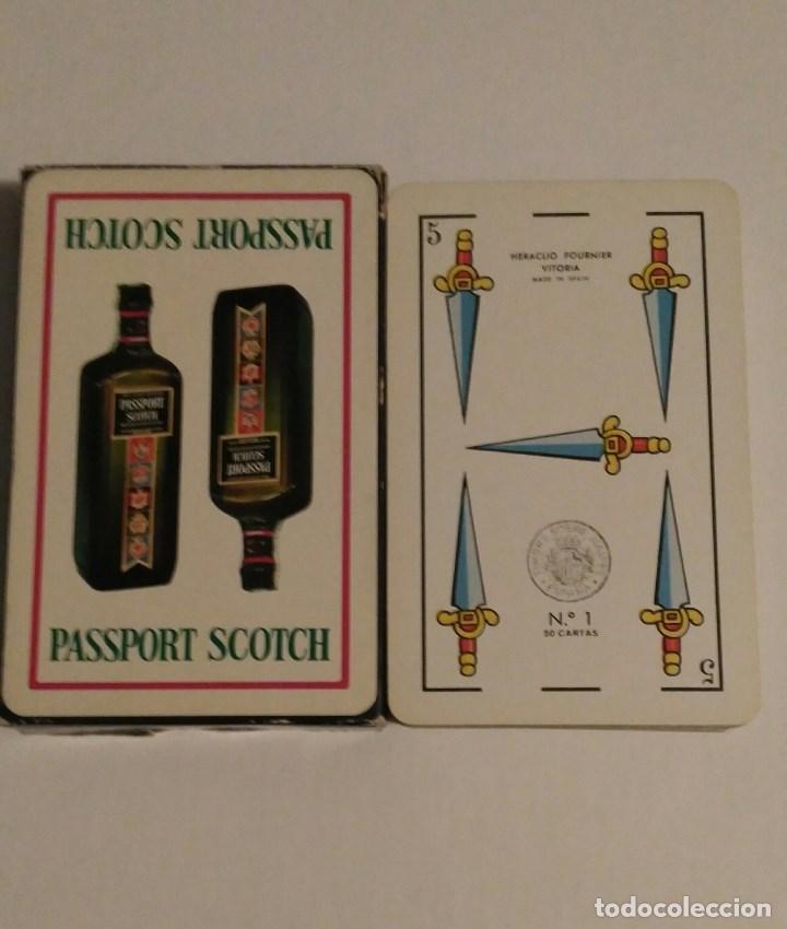 BARAJA DE CARTAS HERACLIO FOURNIER PUBLICIDAD WHISKY PASSPORT SCOTCH 50 CARTAS NAIPES (Juguetes y Juegos - Cartas y Naipes - Otras Barajas)