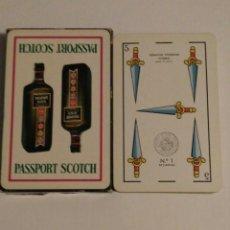 Barajas de cartas: BARAJA DE CARTAS HERACLIO FOURNIER PUBLICIDAD WHISKY PASSPORT SCOTCH 50 CARTAS NAIPES. Lote 74493371