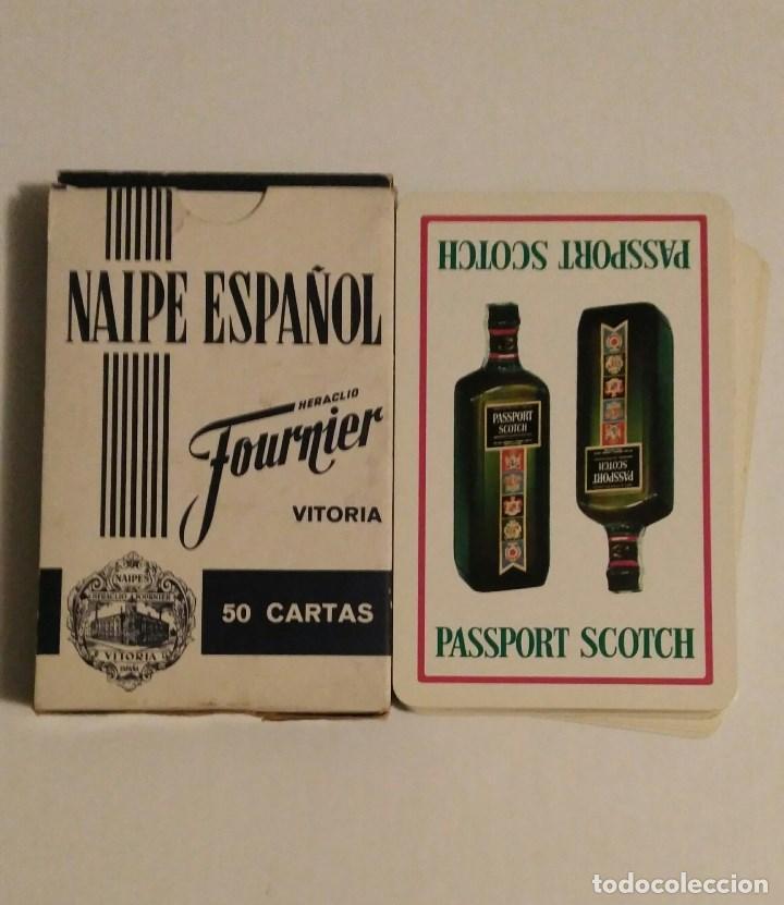 Barajas de cartas: BARAJA DE CARTAS HERACLIO FOURNIER PUBLICIDAD WHISKY PASSPORT SCOTCH 50 CARTAS NAIPES - Foto 2 - 74493371