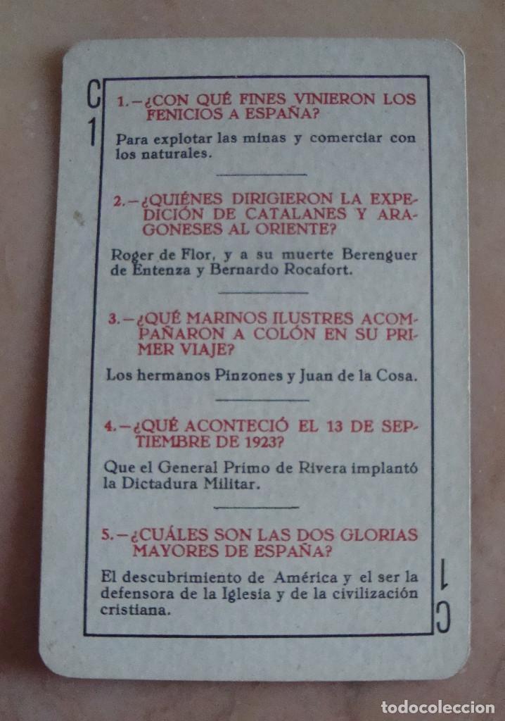 Barajas de cartas: (TC-211) RARA BARAJA NAIPES JUEGO PREGUNTAS Y RESPUESTAS AÑOS 40 ?????? COMPLETA - Foto 2 - 75033359