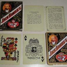 Barajas de cartas: BARAJA DE CARTAS DE POKER. BEBIDAS. WHISKY JACK DANIELS Nº 7.. Lote 75077211