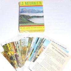 Barajas de cartas: BARAJA FOURNIER LA NATURALEZA, EL JUEGO DE LOS ELEMENTOS VITALES Y DEL MEDIO AMBIENTE. Lote 75100571