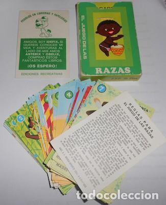 BARAJA EL JUEGO DE LAS RAZAS, ED. RECREATIVAS, CON PUBLICIDAD DE IDEFIX, LA MASCOTA DE ASTERIX Y OBE (Juguetes y Juegos - Cartas y Naipes - Barajas Infantiles)