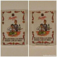 Barajas de cartas: BARAJA DE CARTAS HERACLIO FOURNIER PUBLICIDAD LICOR RUAVIEJA 40 CARTAS NAIPES PRECINTADA. Lote 163779777
