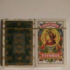 Barajas de cartas: BARAJA DE CARTAS HERACLIO FOURNIER REVERSO VERDE 40 CARTAS NAIPES PRECINTADA. Lote 81711731
