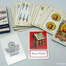 Barajas de cartas: BARAJA FOURNIER BANCO PASTOR 1962 COMPLETA 50 CARTAS. Lote 75606435