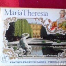 Barajas de cartas: BARAJA MARIA THERESIA VIENNA AUSTRIA 52 NAIPES. WHIST BRIDGE RUMMY CANASTA. Lote 76587703
