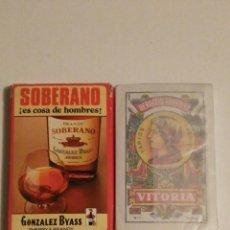 Barajas de cartas: BARAJA DE CARTAS FOURNIER PUBLICIDAD BRANDY SOBERANO GONZALEZ BYASS COÑAC COGNAC 40 CARTAS SIN USAR. Lote 118576828