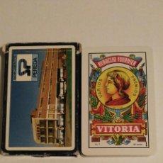 Barajas de cartas: BARAJA DE CARTAS HERACLIO FOURNIER PUBLICIDAD SANEAMIENTOS PEREDA 40 CARTAS NAIPES. Lote 77489101