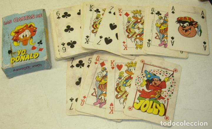 BARAJA, NAIPES, LAS CARTAS DE YO, DONALD, WALT DISNEY (Juguetes y Juegos - Cartas y Naipes - Barajas Infantiles)