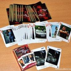 Barajas de cartas: BARAJA DE 54 NAIPES - JAMES BOND 007 - CASINO ROYALE - MUY BIEN CONSERVADA - AÑO 2006. Lote 77646969