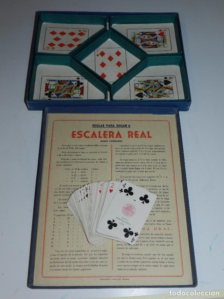 (M) JUEGO ESCALERA REAL CONTIENE UNA BARAJA DE POKER HIJOS DE HERACLIO FOURNIER , VITORIA , AÑOS 50 (Juguetes y Juegos - Cartas y Naipes - Barajas de Póker)