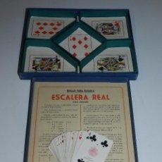 Barajas de cartas: (M) JUEGO ESCALERA REAL CONTIENE UNA BARAJA DE POKER HIJOS DE HERACLIO FOURNIER , VITORIA , AÑOS 50. Lote 77793757