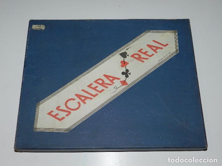 Barajas de cartas: (M) JUEGO ESCALERA REAL CONTIENE UNA BARAJA DE POKER HIJOS DE HERACLIO FOURNIER , VITORIA , AÑOS 50 - Foto 2 - 77793757