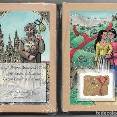 Barajas de cartas: TAROT DE LA Y, LOS 22 ARCANOS MAYORES DEL TAROT EN EL CAMINO DE SANTIAGO, ESTUCHE CARTON PRECINTADO.. Lote 77857777