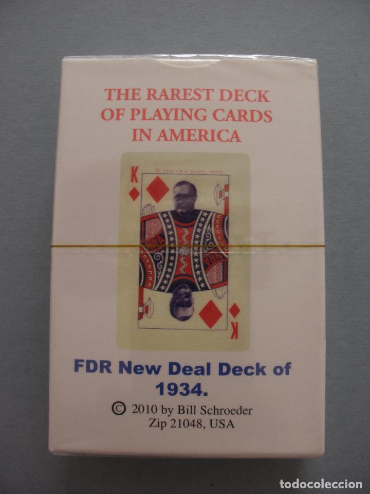 BARAJA ROOSEVELT FDR NEW DEAL DECK OF 1934, USA, NUEVA, PRECINTADA (Juguetes y Juegos - Cartas y Naipes - Otras Barajas)