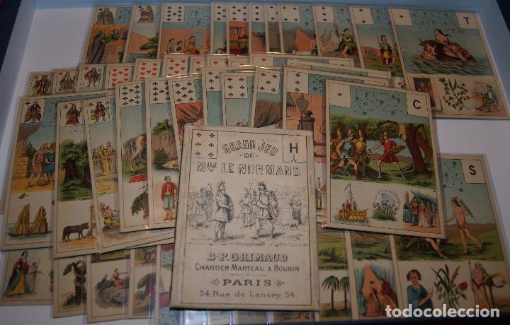 BARAJA GREN JEU DE MILE LE NORMAND 1890 B.P. GRIMAUD PARIS (Juguetes y Juegos - Cartas y Naipes - Otras Barajas)