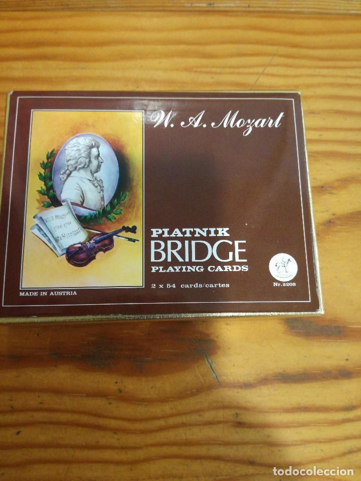 BARAJA MOZART, PIATNIK BRIDGE PLAYING CARDS, 2 BARAJAS, SIN ABRIR. (Juguetes y Juegos - Cartas y Naipes - Otras Barajas)