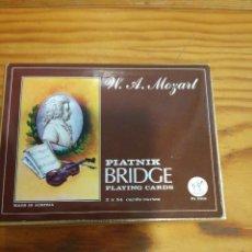 Barajas de cartas: BARAJA MOZART, PIATNIK BRIDGE PLAYING CARDS, 2 BARAJAS, SIN ABRIR.. Lote 78234293