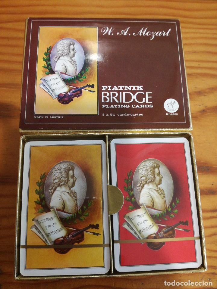 Barajas de cartas: BARAJA MOZART, PIATNIK BRIDGE PLAYING CARDS, 2 BARAJAS, SIN ABRIR. - Foto 2 - 78234293