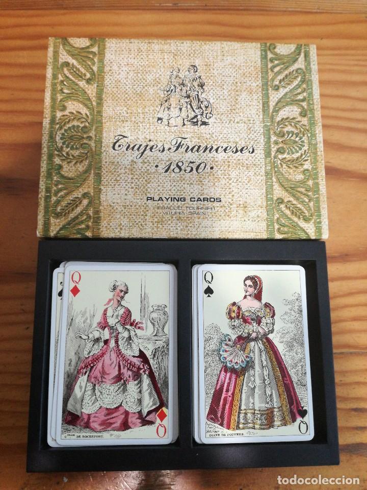 Barajas de cartas: TRAJES FRANCESES 1850, HERACLIO FOURNIER. PRECIOSA. - Foto 3 - 78235277