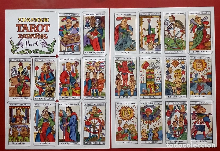 SPANISH TAROT ESPAÑOL - EL JUEVES - LLUISOT - 1990 (Juguetes y Juegos - Cartas y Naipes - Barajas Tarot)
