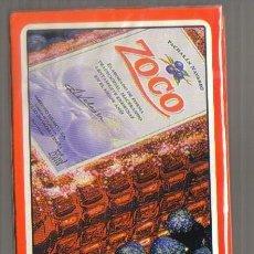 Barajas de cartas: BARAJA PUBLICIDAD PACHARAN ZOCO (PRECINTADA) . Lote 79663701