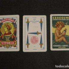 Barajas de cartas: BARAJA ANTIGUA FOURNIER - CEREGUMIL - MALAGA - 40 CARTAS - TIMBRE 1,25 PESETAS -VER FOTOS -(V-9647). Lote 79779441