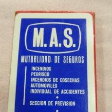 Barajas de cartas: ANTIGUA BARAJA CARTAS CLÁSICA HERACLIO FOURNIER-PUBLICIDAD MUTUALIDAD SEGUROS M.A.S.-PRECINTADA. Lote 80282813