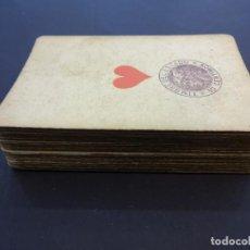 Barajas de cartas: MUY ANTIGUA BARAJA DE POKER GRIMAUD. COMPLETA CON 52 NAIPES EN TOTAL. TIMBRE DEL ESTADO DE 10 CTMS. Lote 80705934
