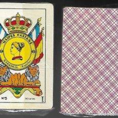 Barajas de cartas: BARAJA NAIPES CASTAÑE Nº 5, DE 1984, PRECINTADA, 48 CARTAS + 2 COMODINES. REVERSO ROJO.. Lote 86599447