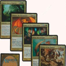 Barajas de cartas: 5 CARTAS INGLES MAGIC THE GATHERING MTG EXTRA GRANDE ?ENGLISH OVERSIZED FOIL CARD NAIPE LOTE 2. Lote 124158384