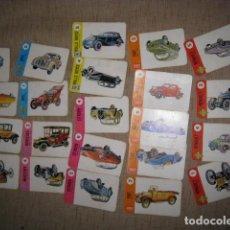 Barajas de cartas: INCOMPLETA - BARAJA CARTAS EL JUEGO DE LOS COCHES AÑO 1968 EDITORIAL ZARAGOZANO. Lote 82701312