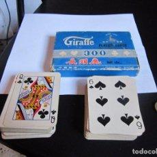 Barajas de cartas: BARAJAS GIRAFFE PLAYING CARDS 300. Lote 82734764