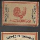 Barajas de cartas: BARAJA CUAJO FILIPINO EL GALLO, ED. A. KELLER DE 1947, TIMBRE 6 ED, 112 CARTAS, SIN ESTRENAR.. Lote 83425852