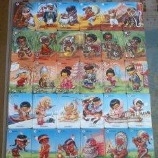 Barajas de cartas: FAMILIAS DE 7 PAISES JUEGO DE 42 CARTAS REEDICION ORIGINAL 1964 NUEVAS IMPECABLE. Lote 83498600