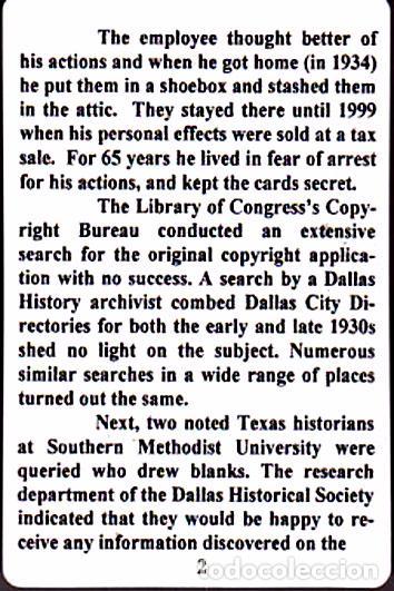 Barajas de cartas: BARAJA ROOSEVELT FDR NEW DEAL DECK OF 1934, USA, NUEVA, PRECINTADA - Foto 13 - 83369030